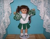 Green and White Cheerleader Outfit