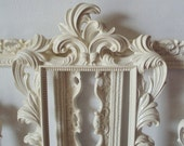 5 ANY COLOR Picture Frames Cottage Cream Shabby Chic Open Frames Wall Gallery Bridal Party Frames Baroque Wedding Home Decor Reception