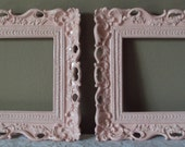 Set of 2 ANY Color 5x7 Picture Frames Ornate Shabby Paris Chic Romantic Cottage Scalloped Vintage Style Wedding Gallery Baby Nursery