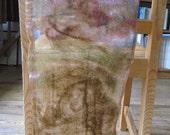 Brown autumn/fall nuno felted scarf