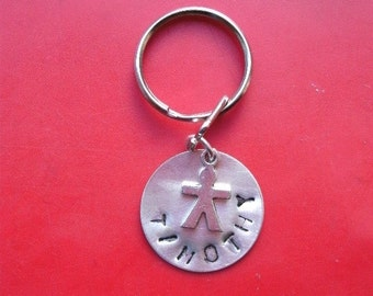 Keyring with name in silver
