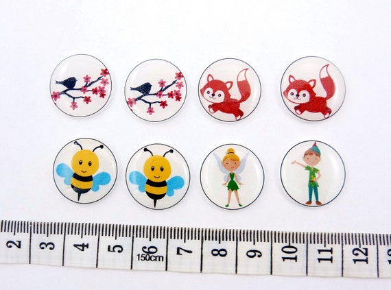 Custom order reserved for tinkerbell1984. 8 assorted NO HOLE buttons.