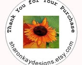 24 Personalized Thank You  Labels with your shop name Rebates available on larger orders