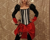 80 DOLLARS OFF Circus Ringmaster Corset -to fit 24-26 inch waist ready to ship