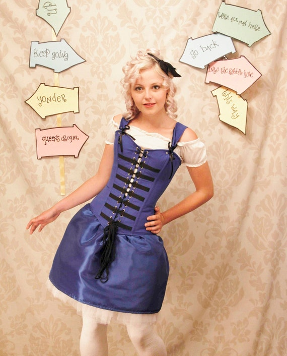 WAS 165 Alice In Wonderland Corset-Corset Only-To Fit 26-27 Inch Natural Waist-Ready To Send
