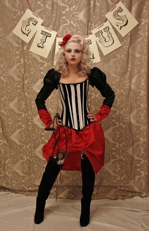 Circus Ringmaster Corset Costume Oufit-Corset Only-Made To Your Measurements