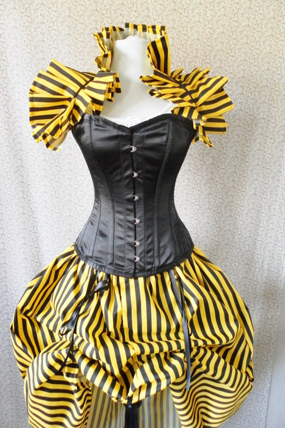 Bumble Bee Corset Outfit-Whole Corset Outfit-MADE FOR BUYER
