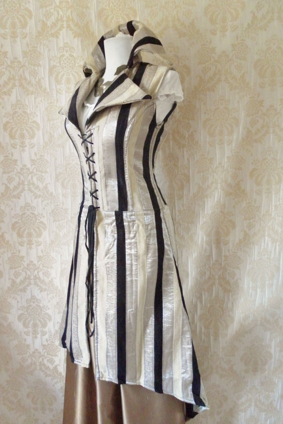110 DOLLARS OFF Majestic pirate long corset coat-to fit a 28-29 inch natural waist