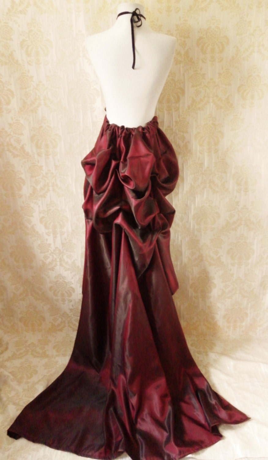 cabaret taffeta tie on bustle skirt one size fits