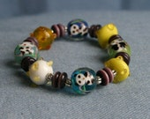 Yellow Panda Bear Bracelet