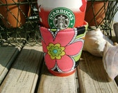 NEW - Coffee Cozy- Funky Floral
