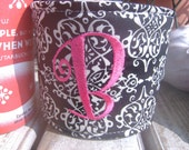 NEW - Coffee Cozy- DAMASK monogrammed