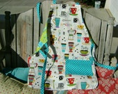 Reversible Apron-2 aprons for one price-COFFEE