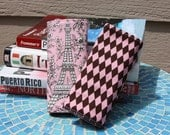 STORE CLOSING - Luggage ID Tag Fabric Handle Wrap Set  - Oh LaLa Paris - Also available in black and white