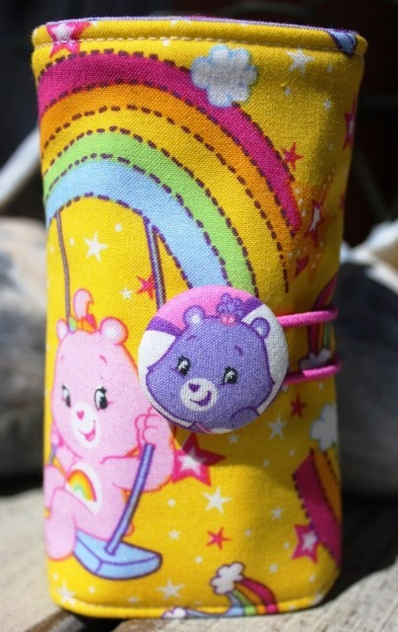 STORE CLOSING - Crayon Roll -  Care Bears - Crayon Cozy, Crayon Organizer, Stocking Stuffer, Christmas Gift toddler