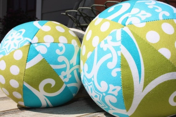 Mini Fabric Ball Set - Surf - Perfect Baby Shower Gift