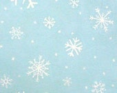 SALE Snow Angel Flakes fabric - Blue - Alexander Henry