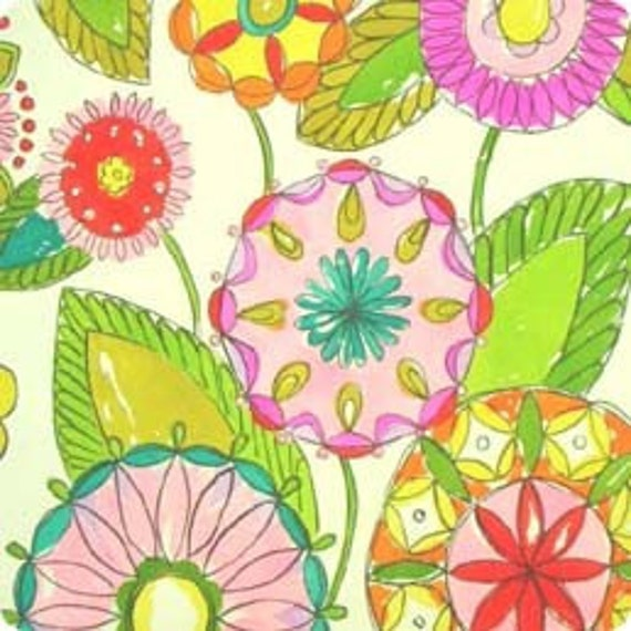 SALE Dandy Kaleidoscope Bright fabric by Alexander Henry, 25 inches