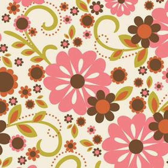Custom listing for Moon Joo Cho - Indian Summer Large Floral - Laminated Cotton Fabric - Cream - Riley Blake - 2.44 yd