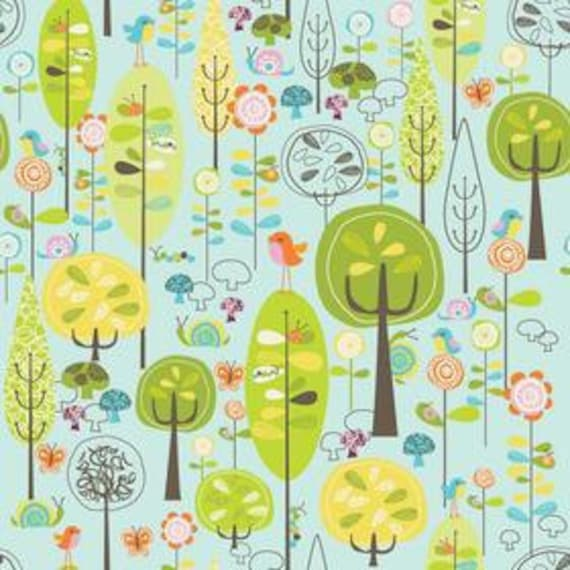 Happier- Laminated Cotton Fabric - Blue - Riley Blake - 1 yd