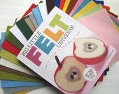 Wool Felt and Craft Book Set, Big Little Felt Universe, Wool Felt Sheets  Toy Pattern