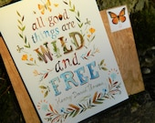 Special Edition Wild and Free 5x7 Card w/ Real Wood Envelope