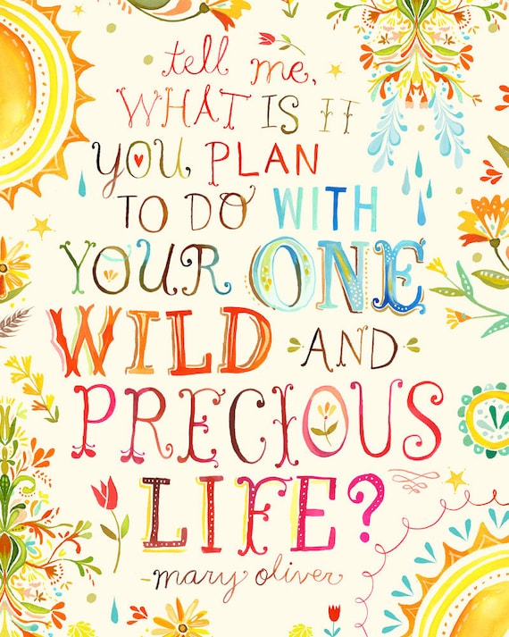 Wild And Precious Life - 5x7 Greeting Card
