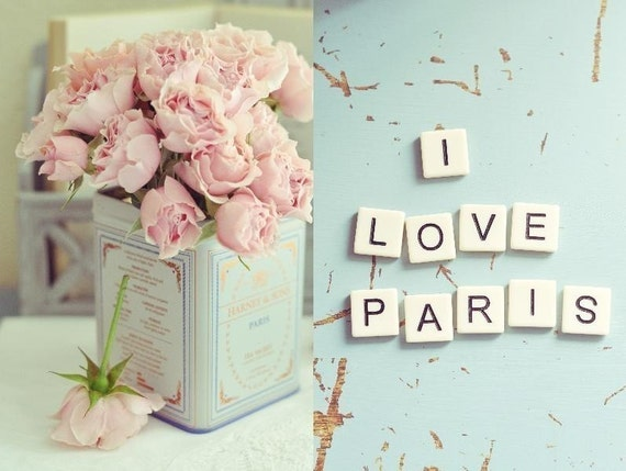 I Love Paris (Set of two 5x7 Unframed Original Fine Art Photograph)