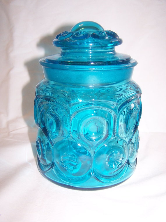 Vintage Blue Moon & Stars Small Canister Number 2
