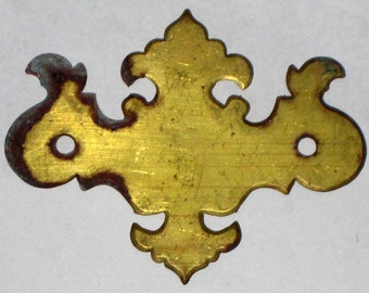 Vintage Brass Escutcheon or Ornament for Scrapbooking, Bookmaking, Journals, etc.
