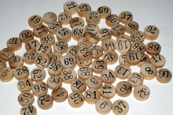 75 Random Vintage  Lotto Numbers for Altered Art. Scrapbooking, Collage, Jewelry Making, etc.