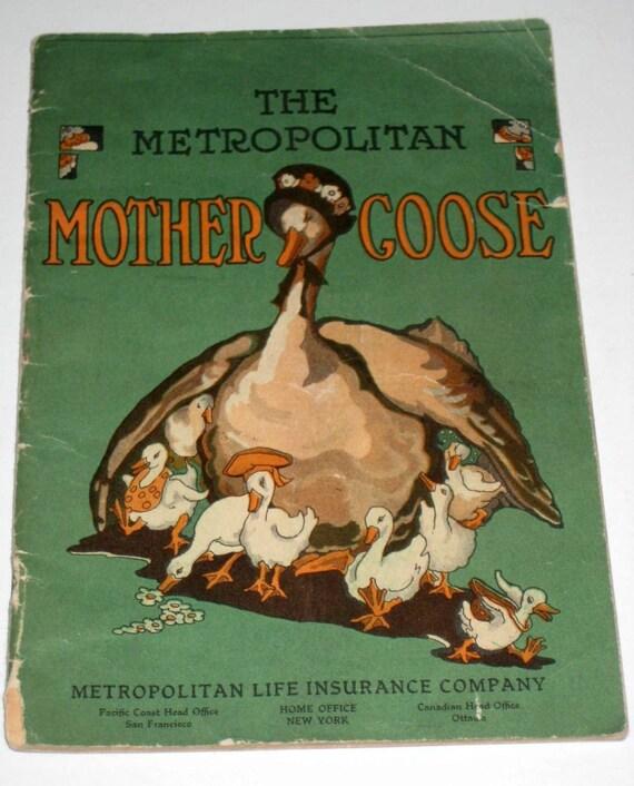 Vintage (1930s) Children's Advertising Pamphlet - The Metropolitan Mother Goose