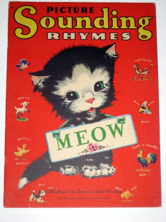 Vintage (1943) Picture  Book - Picture Sounding Rhymes