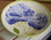 large shallow hydrangea bowl