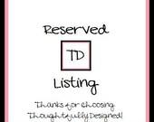 Reserved Listing for meltonrn