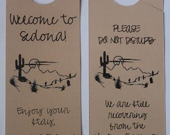 Door Hangers for Out of Town Wedding Guests - Completely Custom