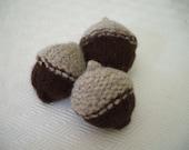 reserved for fgantner ten knitted and felted little acorns