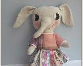 petite elephant/ pink jumper & skirt
