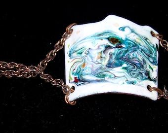 Handmade Copper Enamel  Bracelet