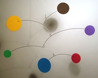 Modern Hanging Art Decor Lil'Cutie Mobile for Nursery Baby Calder style Kinetic Home Decor