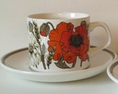 Poppy Tea Cup and Saucer - scented candle