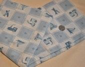 Baby Blue Blocks Cotton Fabric