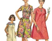 1960s Simplicity 7551 Half Size Tent Dress Pattern Womens Vintage Sewing Pattetn Size 14 1/2 Bust 37