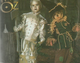 Simplicity 7814 5414 Tin Man and Scarecrow Costume Pattern from Wizard of Oz Kids Sewing Pattern Size 3 4 5 6 7 8 Chest 22 - 27 UNCUT