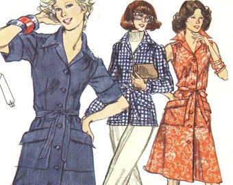 Vogue 8766 1970s  Very Easy  Misses Dress Tunic and Pants Pattern  Womens Vintage Sewing Pattern Size 12 Bust 34 UNCUT