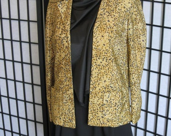 I. Magnin Gold Metallic Jacket