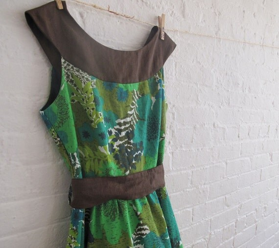 green leaf tea dress II