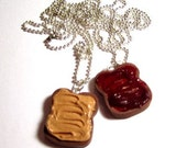 Peanut Butter And Jelly Polymer Clay Bestfriend Necklaces