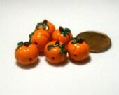 6 Pumpkin Beads