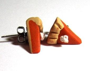 Pumpkin Pie Scented Surgical Steel Stud Earrings